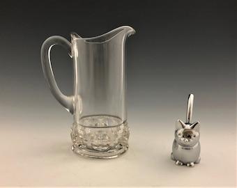 EAPG Creamer - Specialty Glass Company - No. 100 (OMN) - AKA Chestnut Band - Early American Pattern Glass - Circa 1891