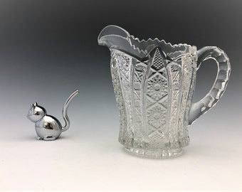 EAPG Creamer - Imperial Glass Company - Bellaire Pattern - Early American Pattern Glass - c. 1913
