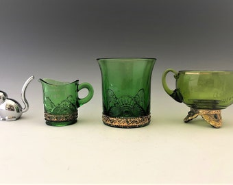 Collection of United States Glass Company No. 15057 Colorado Pattern - Early American Pattern Glass - 1898