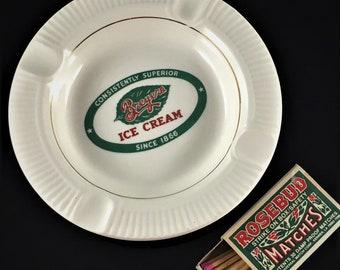 Vintage Advertising Ashtray - Breyers Ice Cream Ashtray - Retro Ashtray - Tobacciana Collectible