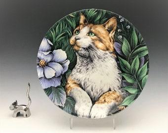 Glass Cat Plate