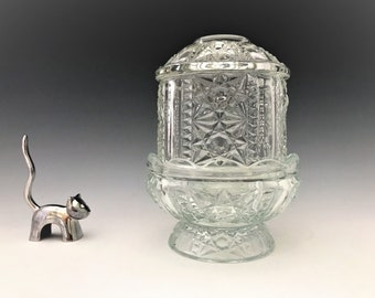 Indiana Glass Stars and Bars 3-Piece Fairy Lamp