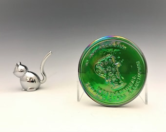 Carnival Glass Souvenir - International Carnival Glass Association - Appreciation Award - Hard to Find - Iridescent Glass