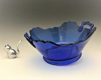 "L.E. Smith Glass No. 410 ""Mount Pleasant"" Salad Bowl - c. 1936"