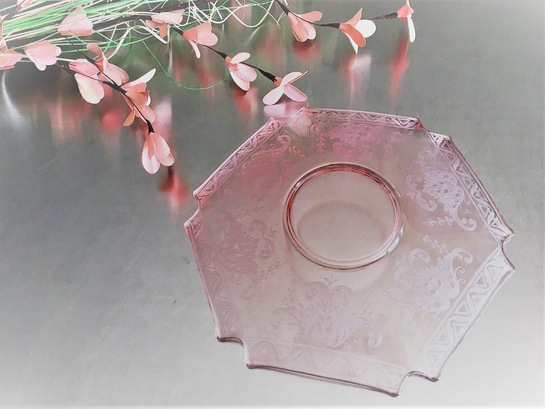 Rare Pink Depression Glass Plate - New Martinsville ...