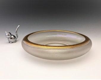 Duncan Miller Acid Etched Bowl With Gold Decoration
