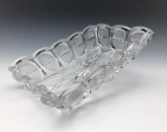 EAPG Oblong Bowl - U.S. Glass Company No. 15004 - AKA Barred Oval Pattern - Circa 1892 - Early American Pattern Glass