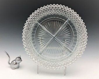 Hocking Miss America - 4 Part Divided Relish Plate