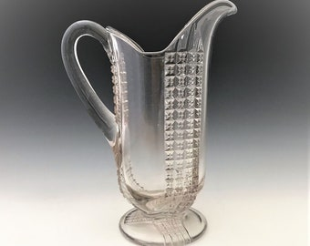 EAPG Pitcher - New Martinsville Glass Company - No. 34 (OMN) - Early American Pattern Glass - Circa 1915