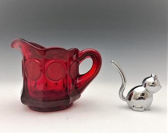 Fostoria Coin Glass Ruby Red Creamer
