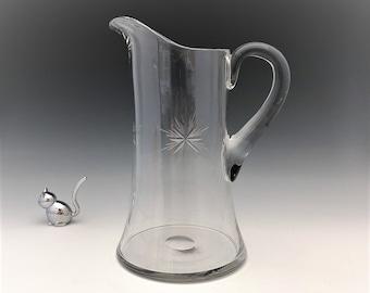 Elegant Tiffin Water Pitcher - #14179 With Star Cutting
