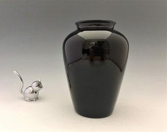 Vintage Amethyst Glass Vase - Elegant Purple Vase - 6 1/2 Inch Flower Vase