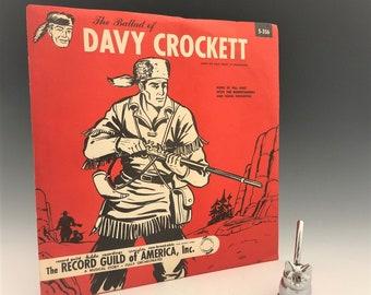 The Ballad of Davy Crockett - Vinylite Record - Record Guild - Walt Disney TV Production