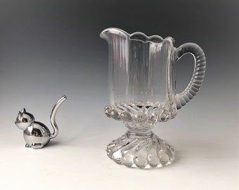 EAPG Creamer - McKee and Brothers - Ray Pattern (OMN) - AKA Ball and Swirl - Early American Pattern Glass Cream Pitcher - Circa 1894