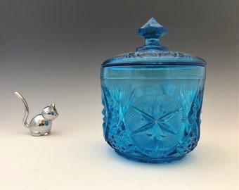 Kemple Glass Yutec Pattern - No. 108 Covered Sugar Bowl