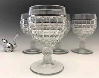 Heisey Victorian Pattern Water Goblets - Set of 4