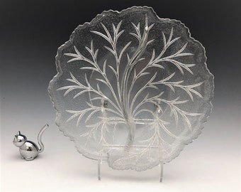 Indiana Glass Pebble Leaf Pattern (#6) - Two-Part Relish Bowl