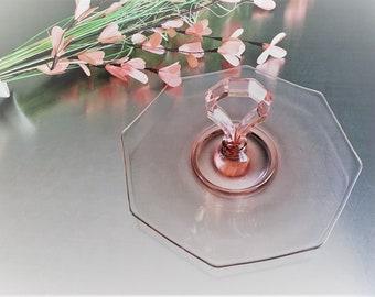 Rare Duncan and Miller - Center Handle Server (CHS) - Pink Depression Glass - Octagonal Serving Platter