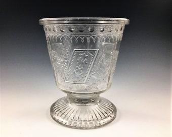 EAPG Sugar Bowl - Adams and Company - Prayer Rug (OMN) - AKA Good Luck or Horseshoe - Early American Pattern Glass - Circa 1881