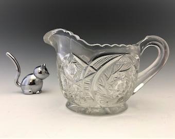 EAPG Creamer - U.S. Glass Company No. 15101 Comet (OMN) - Early American Pattern Glass - c. 1907