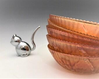 Jeannette Iris Iridescent Small Berry Bowls - Set of 5