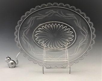 EAPG Plate/Platter - Bryce, Higbee and Company - Capitola (OMN) - AKA Barley - Early American Pattern Glass - Circa 1880