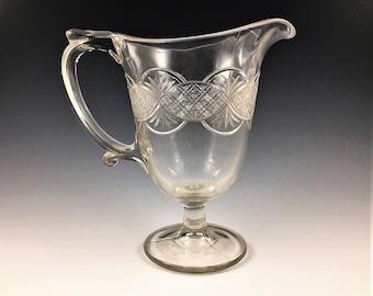 EAPG Creamer - Bryce, Higbee and Company - AKA Chain - Early American Pattern Glass - Circa 1879