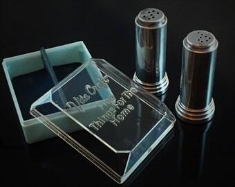 Vita Craft Art Deco Salt and Pepper Shakers