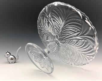 EAPG Cake Stand - Bryce, Higbee & Company - Bonair Pattern - AKA Palm Leaf Fan - Circa 1903 - Early American Pattern Glass