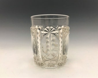 EAPG Tumbler - Windsor Glass Company - Pentagon Pattern - Early American Pattern Glass - Circa 1889