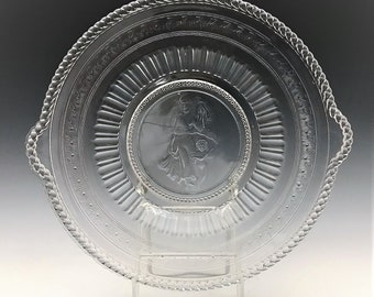 EAPG Plate/Platter - Richards and Hartley - No. 500 (OMN) - AKA Cupid and Venus - Early American Pattern Glass - Circa 1880