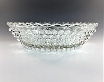 Beautiful EAPG Bowl - Columbia Glass Company - Dewdrop (OMN) - AKA Hobnail Double-Eye - Circa 1888 - Early American Pattern Glass