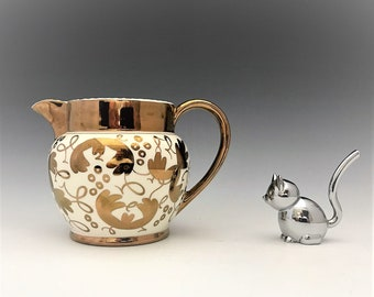 1940s Wedgwood Copper Lusterware Pitcher C5623