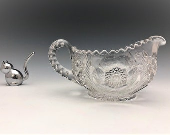 EAPG Creamer - McKee and Brothers - Sextec Pattern - Early American Pattern Glass - c. 1906