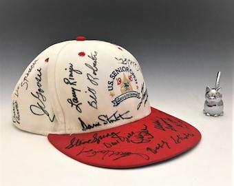 1995 U.S. Senior Open Congressional Hat - 21 Signatures - Signed Ball Cap - Golf Hat