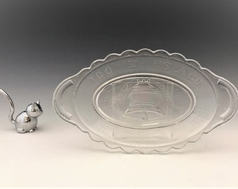 EAPG Pickle or Relish Dish - Adams and Company - Centennial 1876 Pattern - AKA Liberty Bell - Early American Pattern Glass - Circa 1876