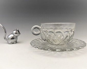 Indiana Glass #622 Pretzel Pattern - Cup and Saucer