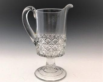 EAPG Creamer - Ripley and Company - Mascotte Pattern - AKA Dominion - Early American Pattern Glass - c. 1884