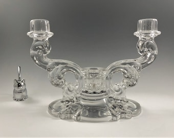 Heisey No. 1513 Three Light Candelabra Epergne - Elegant Glass Candlestick Holder