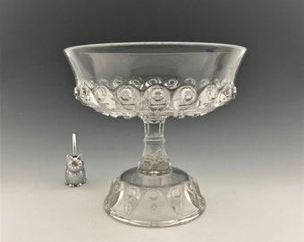 Large EAPG Compote - Thompson Glass No. 17 - AKA Torpedo Pattern - Early American Pattern Glass - Circa 1889
