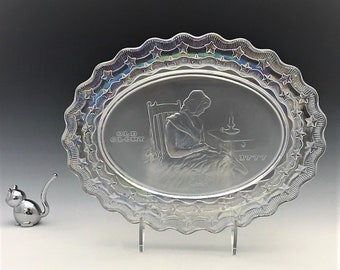 """Fostoria """"American Milestones"""" Plate - Betsy Ross - 1971 Crystal Collector's Plate"""