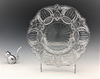 EAPG Butter Dish Base - United States Glass Company - No. 15100 Banner (OMN) - AKA Gloved Hand - Early American Pattern Glass - c. 1907