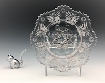 EAPG Butter Dish Base - Indiana Glass Mikado Pattern - Early American Pattern Glass - c. 1907