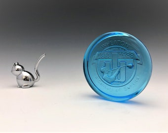 Wheaton Glass Souvenir - Glass Paperweight - Glass Coaster