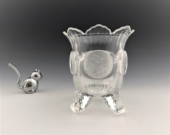 U.S. Coin Glass Reproduction Spooner - Vintage Spoon Holder