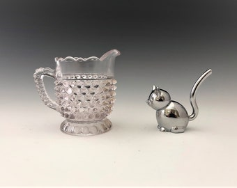 EAPG Creamer - Doyle and Company Glass - No. 150 (OMN) - AKA Hobnail With Fan Edge - Early American Pattern Glass Cream Pitcher - c. 1880s