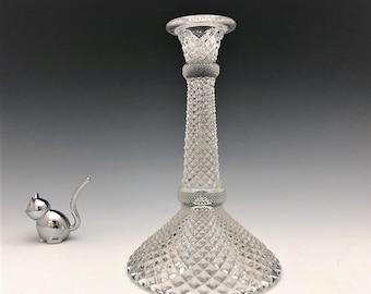 Westmoreland No. 555 Early American Candlestick - English Hobnail - Elegant Glass Candlestick Holder - Depression Era Glass