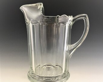 Indiana Glass Pitcher - Line #258 - Hard to Find Restaurant or Barware - Colonial Style Pitcher