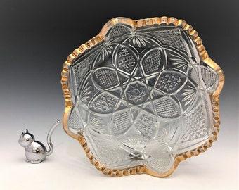 EAPG Bowl - U.S. Glass Company No. 15048 Pennsylvania (OMN) - AKA Balder - Early American Pattern Glass - c. 1897