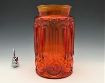 L.E. Smith Moon and Star Flour Canister (#6285) - 5 Pound Jar - Retro Kitchen Storage